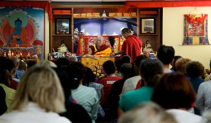 H.E. Khejok Rinpoche giving a Medicine Buddha empowerment at AITHP in Chatswood, 2009.