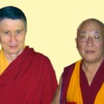 2007 - His Eminence Khejok Rinpoche and Gen Chris Ngawang Yangchen during one of Rinpoche's visits to the Institute. Shortly after, Rinpoche announced that Gen-la had developed a new approach to Tibetan Buddhism. The new approach has evolved from teaching Buddhism within the Institute, when it was originally a Traditional Tibetan Medical Institute.