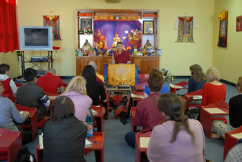 In 1998, H.E. Khejok Rinpoche dismantled the medical arm of the Institute. At the same time, Rinpoche asked Gen Chris Ngawang Yangchen to keep on teaching and continuing her work. In that same year Gen-la began writing the Overcoming Problems courses.