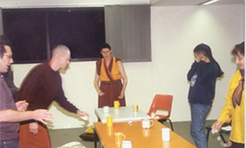 1994 - 1998 – AITHP moved to a club on the University of Technology Sydney (UTS) campus where Gen Chris Ngawang Yangchen began to research the best way to teach Westerners to change.