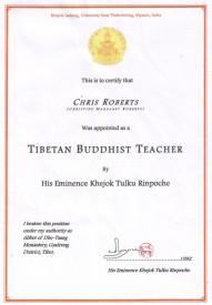 His Eminence Khejok Rinpoche