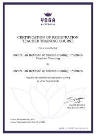 Yoga Australia Certificate